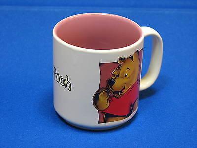 Winnie the Pooh PInk Mauve Ceramic Mug Coffee Cup Walt Disney Red Shirt Cartoon