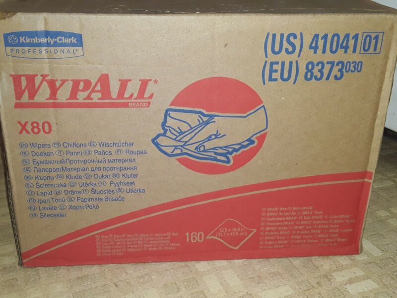Wypall X80 41041 Box Of 160 Cleaning Wipes