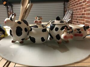 Cow kitchen set and lazy Susan