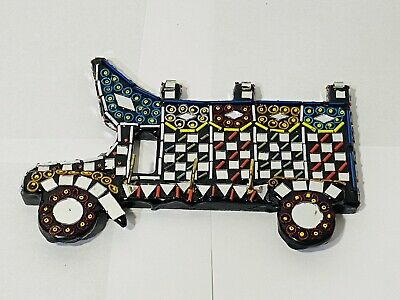 Wooden Colourful Key Holder Wall Mounted Handmade Antique Truck Design New