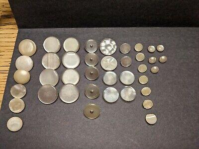 ORIGINAL 10C CANADIAN DIME 80/% SILVER COIN SHANK BUTTONS HANDMADE 6 PCS LOT!