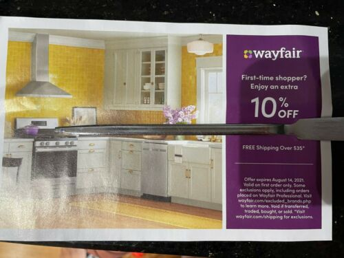 Wayfair 10% off ENTIRE purchase exp 8/14/2021, Valid on FIRST ORDER only