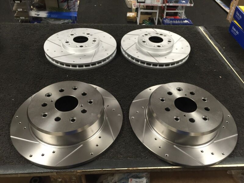 LEXUS IS200 BRAKE DISC CROSS DRILLED GROOVED BRAKE DISC FRONT REAR O.E FIT