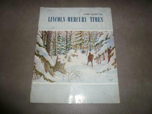 1955 November December Lincoln - Mercury Times  - Vintage
