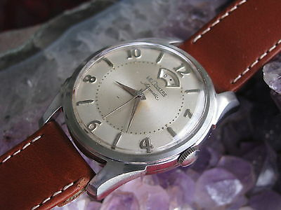 LeCoultre Vintage Stainless Steel Automatic Wrist Watch, Power Reserve Indicator