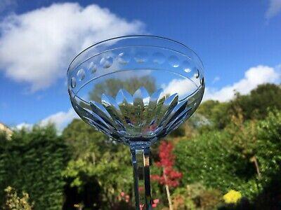6 coupes à champagne en cristal Mod. ZERMATT tll AVON. H: 126 mm Val St Lambert