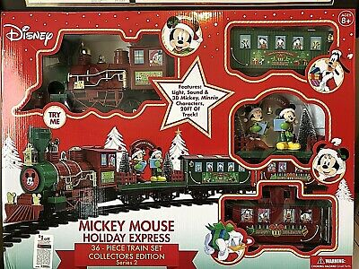 Disney Mickey Mouse Holiday Express 36 Piece Collectors Edition Train Set * NEW