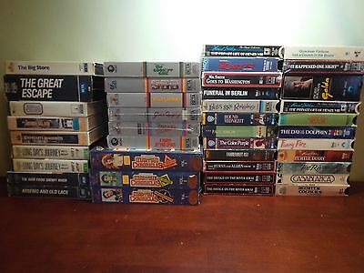 BETA LOT of 40 Betamax Tapes Vintage Rare Video ESTATE CLEANOUT!!