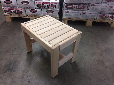 Sauna bench Alder Gr. II: 60x35x40 cm