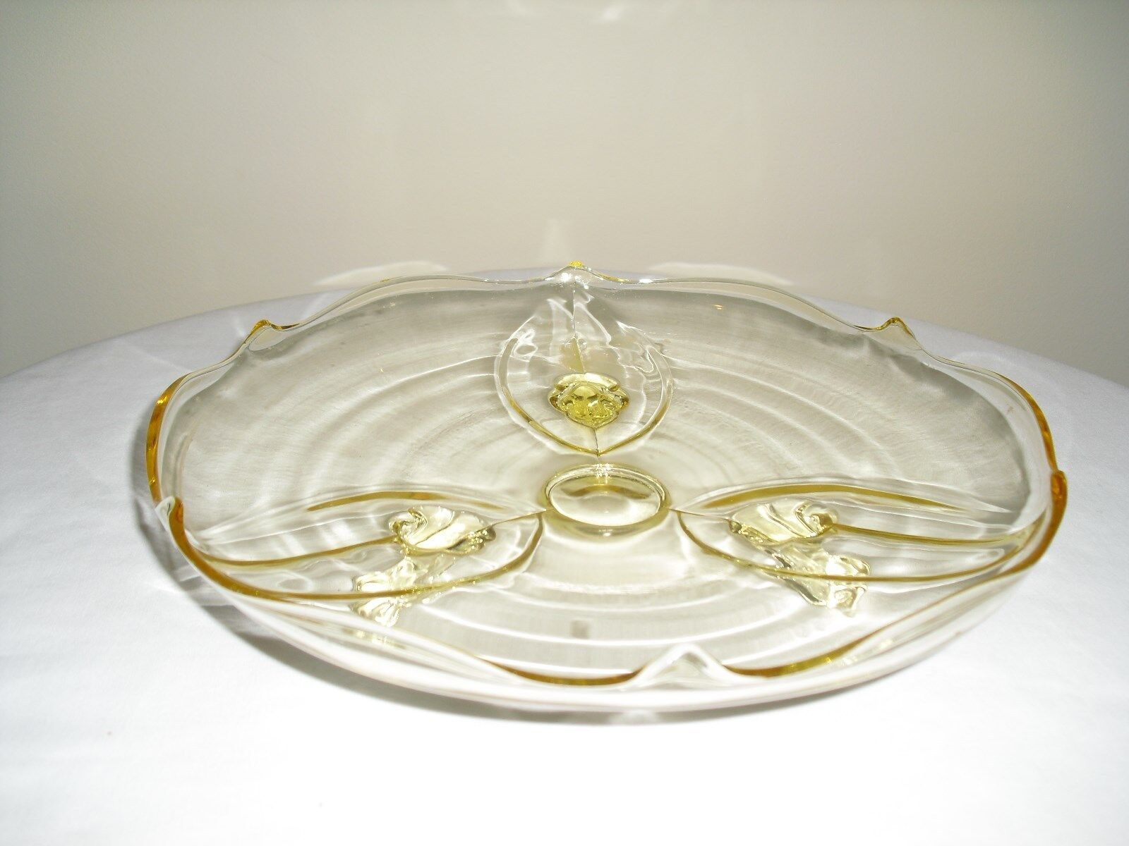 Glass Footed Cake Platter