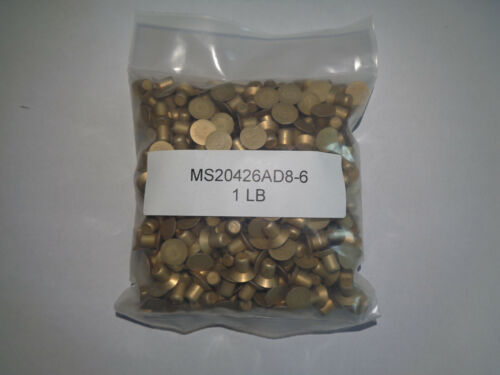AIRCRAFT AIRPLANE RIVETS MS20426AD8-6     1LB BAG NEW (LAST ONE)