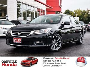 2015 Honda Accord Sedan L4 Sport CVT 1-Owner|Clean Carproof|Sunr