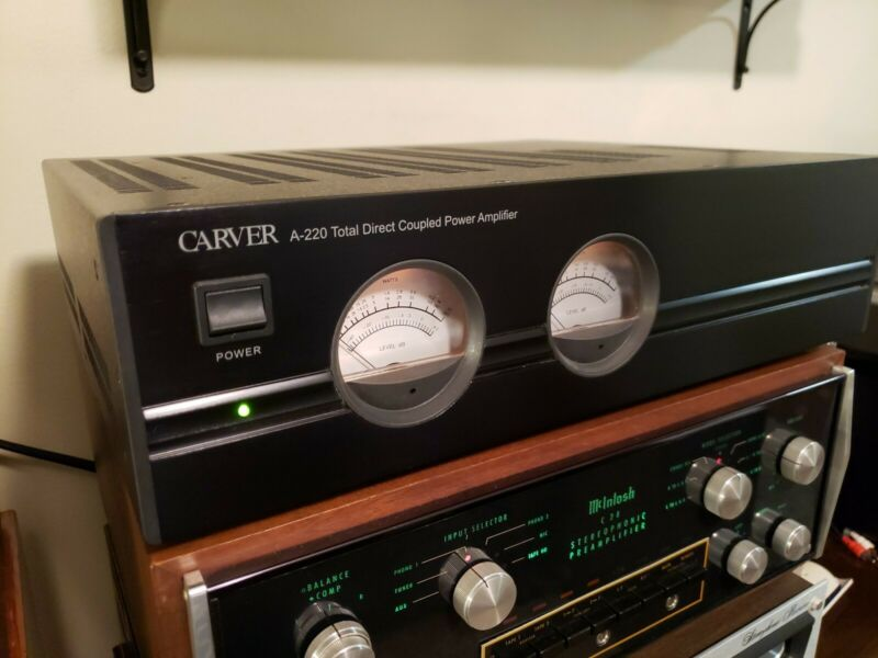 Carver A-220 Total Direct Coupled Power Amplifier 2 Channel - 110 Watts!