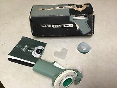 Vintage Montgomery Ward Vintage Lable Maker Lable Tape Roll Instructions Box