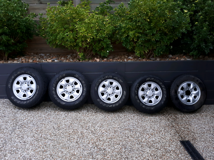4x4 All terrain tyres with 16 inch steel rims