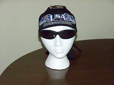 HARLEY DAVIDSON MOTORCYCLES USA SKULL CAP BIKER DO RAG HEAD WRAP Scarf Bandana
