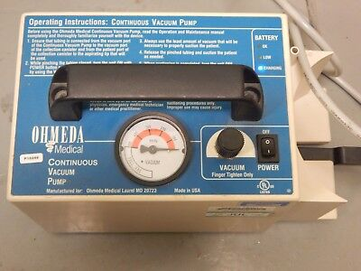 Ohmeda Medical Lightweight Portable Continuous Vacuum Pump - Used