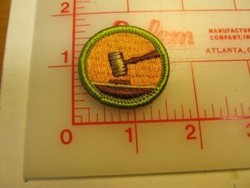 Rolled edge Type G PUBLIC SPEAKING merit badge patch (g9)