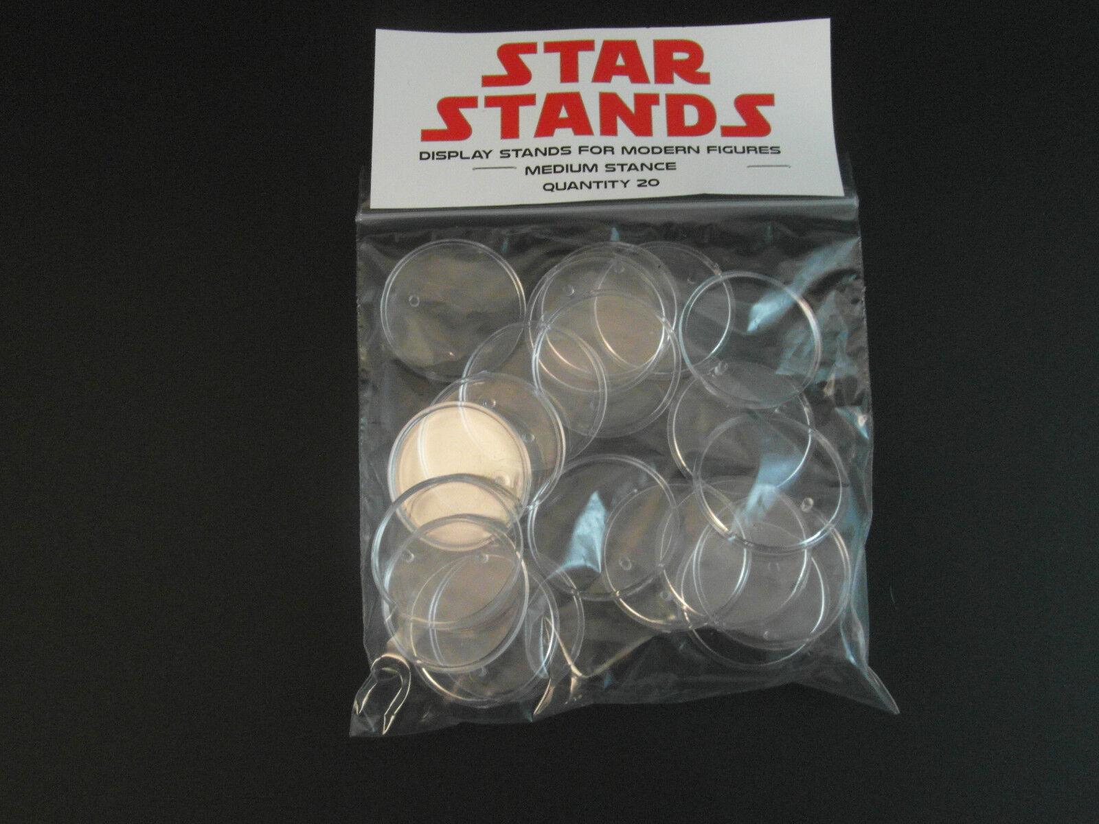 "20 x New 1.5"" Modern Star Wars Figure Display Stands-Wide"