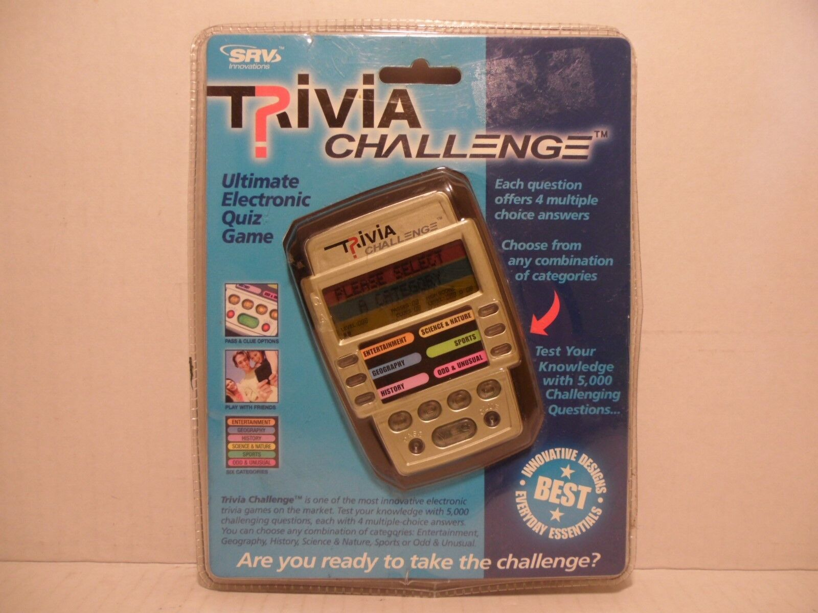 Handheld Electronic Trivia Quiz Game with 6 Categories 5000