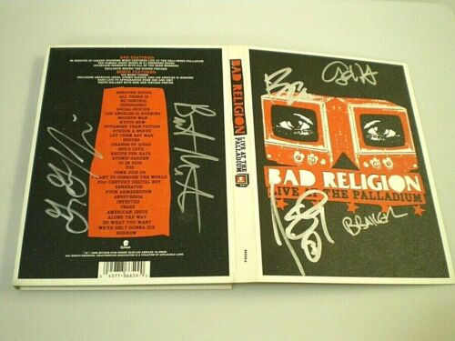 BAD RELIGION Live At The Palladium 2006 DVD Band Signed AUTOGRAPHED COVER Sleeve