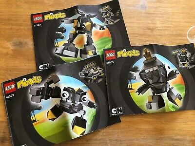 Lego Mixels Series 1 41503 41504 41505 Krader Seismo Shuff Complete Used No Box