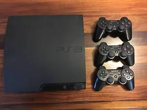 PS3 with 3 controllers plus games Klemzig Port Adelaide Area Preview