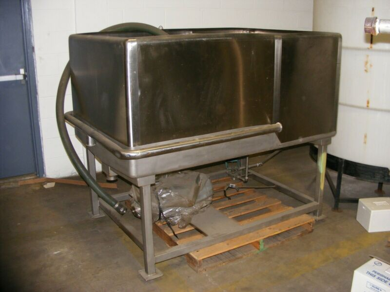 2 Compartment CIP Clean in Place Rectangular Tank w 2