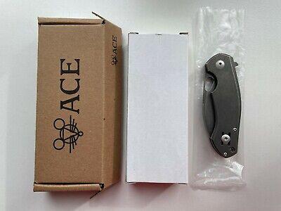Giantmouse ACE Biblio Titanium M390 Steel Stonewash Knife Exclusive NEW