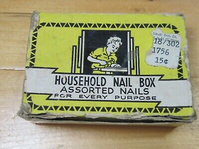 Helping Hand Small Nails 2.5oz Assorted Sizes And Types-Bent Box