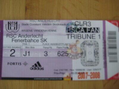 Ticket: Anderlecht - Fenerbahce SK UEFA Champions League (29-8-07)