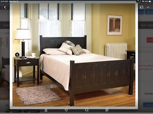 New Price ! Twin Solid Wood Bed Frame, Mattress and Box Spring