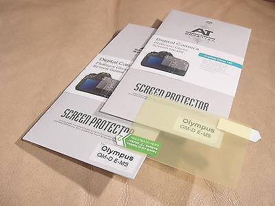 2x LCD Screen Protector for Olympus OM-D E-M5 em5 EM-5 omd Camera NEW