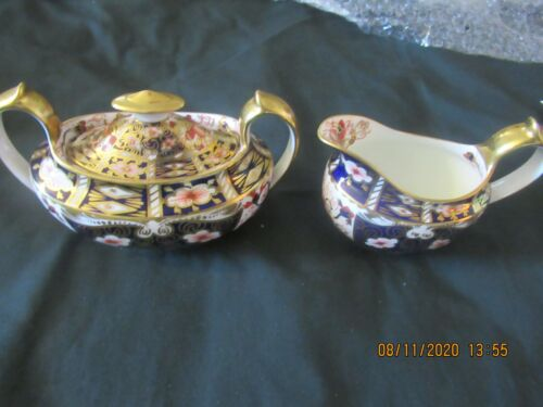 ROYAL CROWN DERBY CREAM AND COVERED SUGAR IMARI 2451