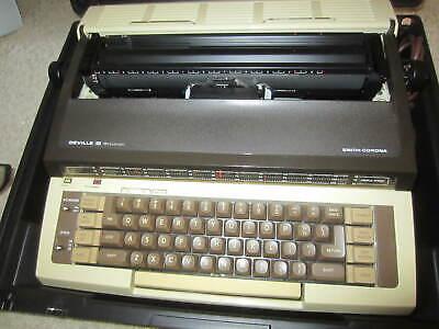 Smith Corona Deville Iii Messenger Typewriter W Case Mint