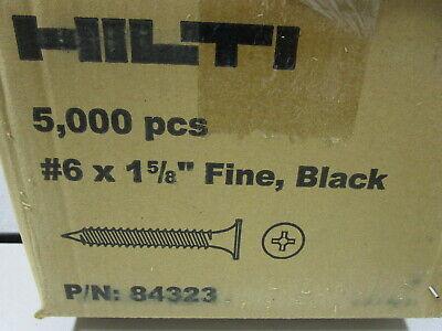 Hilti Drywall Screws 6 X 1-58 Pbh S Fine Black 84323 - New - Qty. 5000