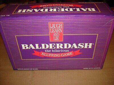 Original Balderdash Board Game The Hilarious Bluffing Game Vintage 1984-Complete