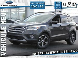 2018 Ford Escape SEL**AWD*CUIR*TOIT*GPS*BLUETOOTH**