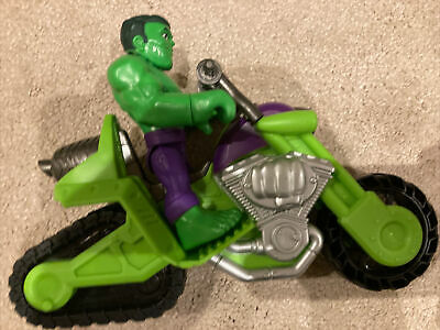 Marvel Super Hero Adventures toys, 12.5cm Hulk Action Figure and Motorcycle