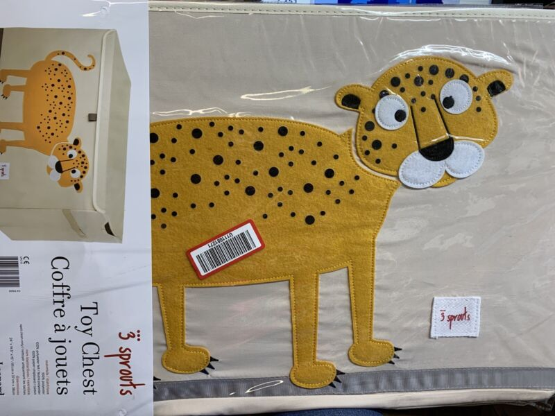 3 Sprouts Leopard Toy Chest Kids New