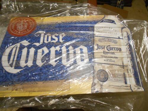 Jose Cuervo Silver Metal Tin Sign