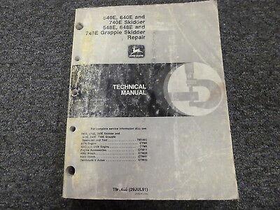 John Deere 540e 640e 740e 548e 648e 748e Skidder Service Repair Manual Tm1486