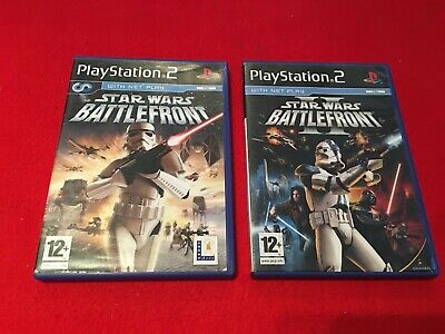 STAR WARS BATTLEFRONT I + II - 2 PS2 GAMES COMPLETE