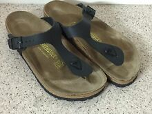 Birkenstocks Gizeh Size 38 Matt Black Mango Hill Pine Rivers Area Preview