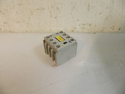 Allen Bradley Auxiliary Contact Block, 100-F, Series B, Used, Warranty
