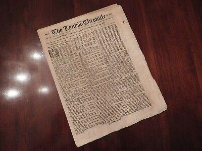 RARE 1781 Newspaper - Reports Cornwallis' Surrender & John Andre's Replacement