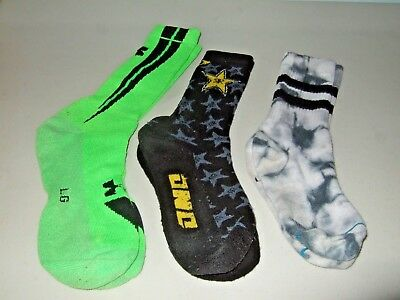 Stance Under Armour rockstar one industries Crew Socks JDM 3 pair! Rock Star Crew Socks