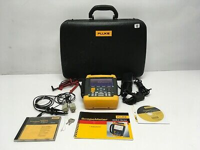 Fluke 199b Scopemeter With New Battery 2 Probes Case Test Leads Tested