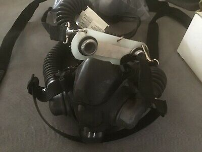 North Industrial respirator with filters and behind back mount