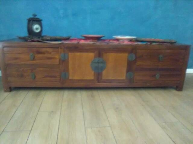 Asian Style Tv Cabiner Coffee Table Sideboard Buffet